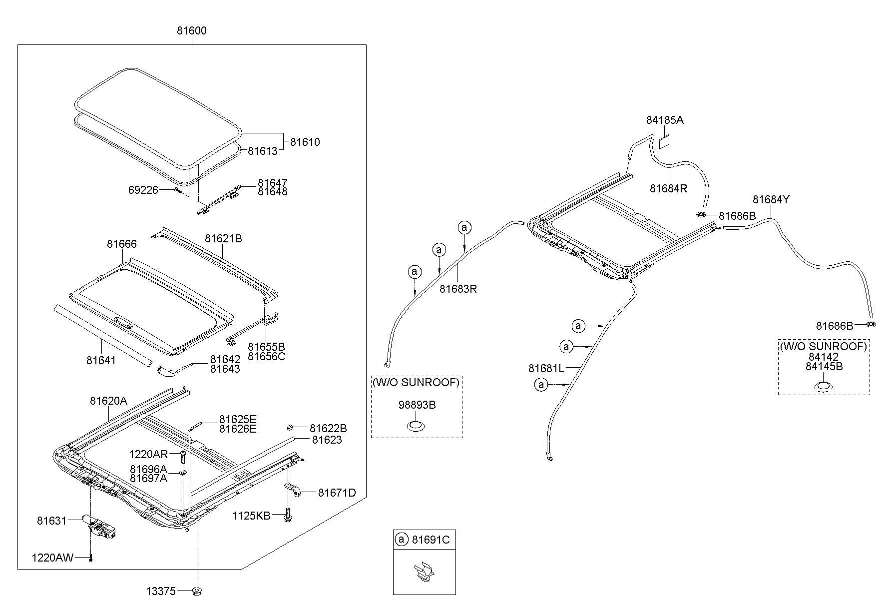 Hyundai Accent Sunroof Glass Seal Weatherstrip