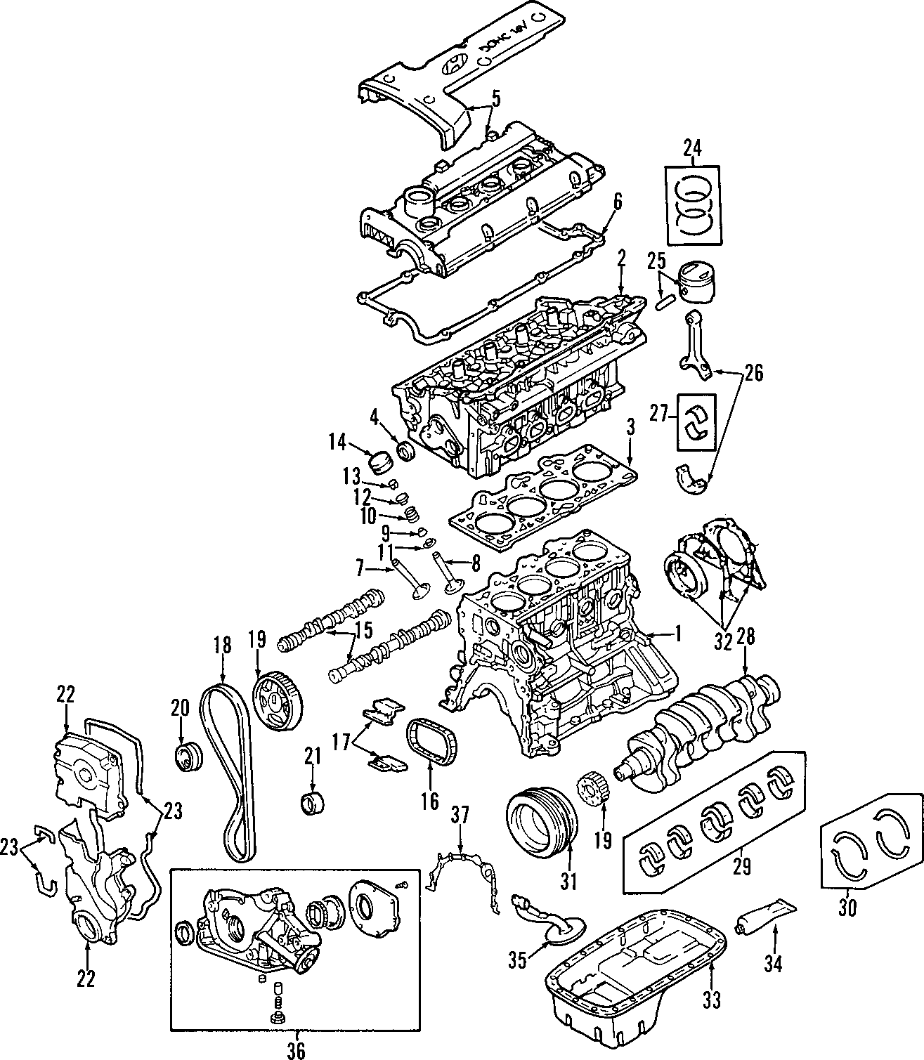 Hyundai Elantra Engine Timing Belt Idler 2 0 Liter