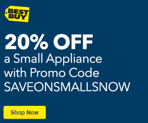 Save 20% on a Small Appliance with Promo Code SAVEONSMALLSNOW, Conditions Apply