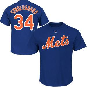Youth New York Mets Noah Syndergaard Majestic Royal Player Name & Number T-Shirt