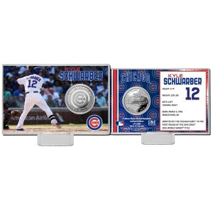 Chicago Cubs Kyle Schwarber Highland Mint Mint Player Silver Collector Coin Card