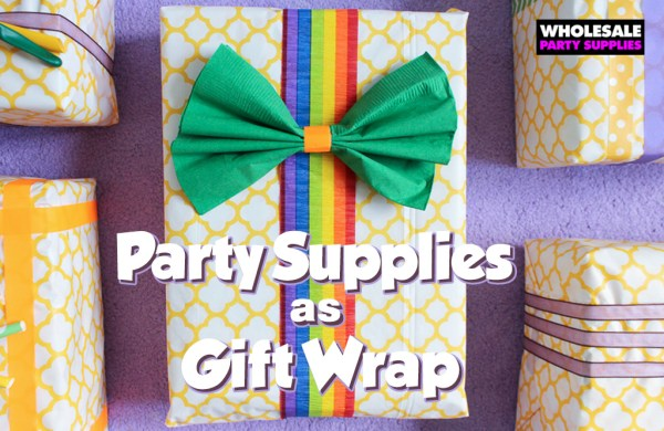 Party Supplies as Gift Wrap! | Party Ideas & Activities by ...