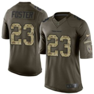 Nike Texans #23 Arian Foster Green Youth Stitched NFL Limited Salute to Service Jersey
