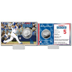 Los Angeles Dodgers Corey Seager Highland Mint Mint Player Silver Collector Coin Card