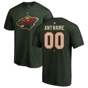 Men's Minnesota Wild Fanatics Branded Green Person cheap barcelona hockey shirt