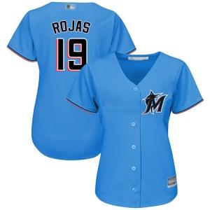 Marlins #19 Miguel Rojas Blue Alternate Women's St wholesale Sano official jersey