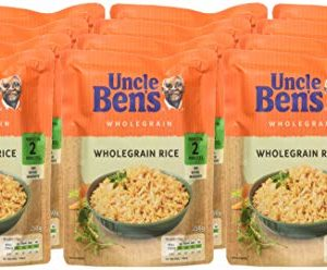 uncle ben s microwave rice mixed selection pack of 12 6 x long grain 250 g 6 x wholegrain 250 g