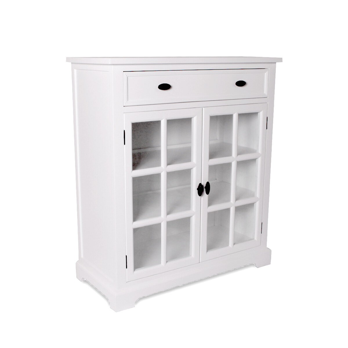 Hamptons Halifax Kitchen 1 Drawer Buffet Cabinet With Glass Door Sideboard Wholesales Direct