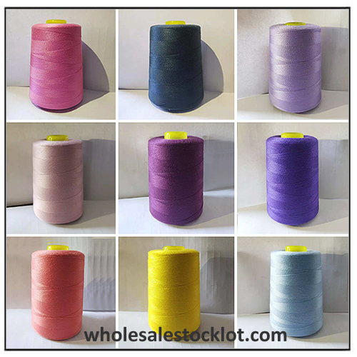 402 Colorful Sewing Threads Stock Direct Sale 100% Polyester 3000Y
