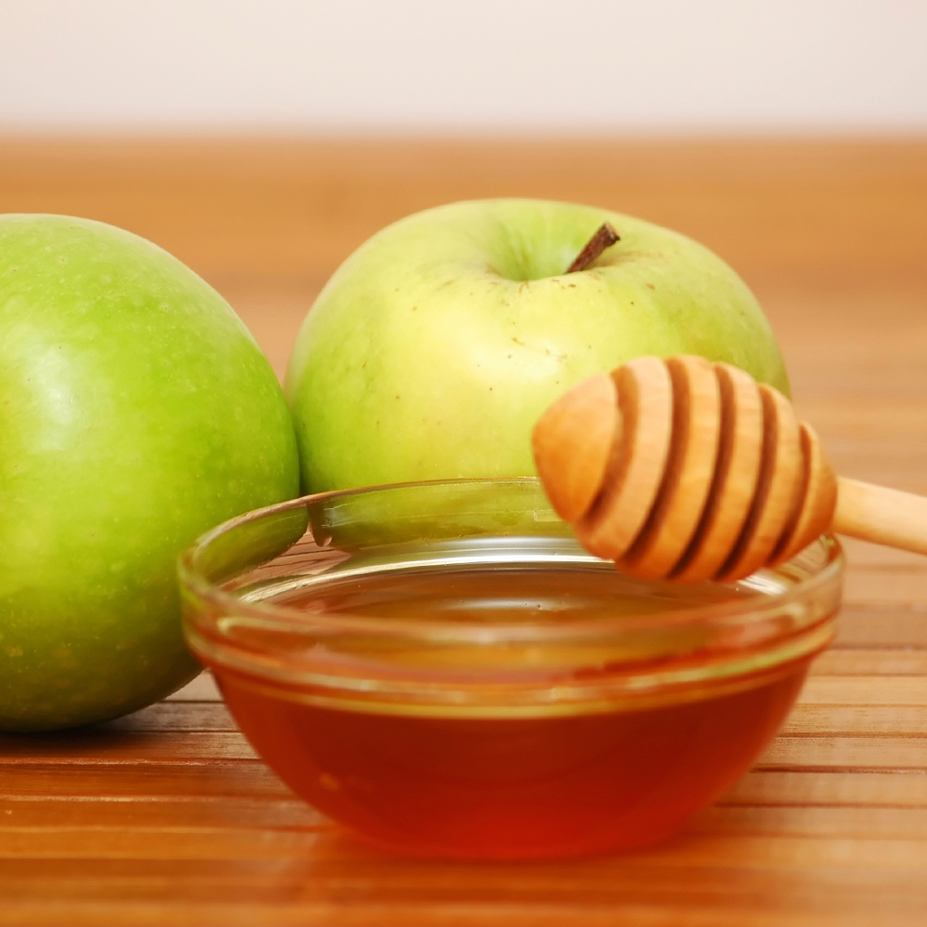 Image result for green apple and honey