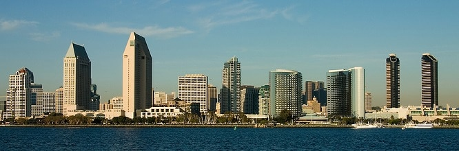San Diego Skyline, RV Destination for Californian RVers