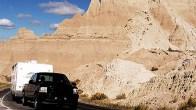 Travel Trailer in the South Dakota Badlands, South Dakota RV Tips