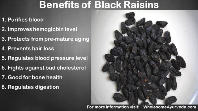 Ayurvedic benefits black raisin soaked water healthy skin hair body
