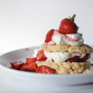 Strawberry Shortcakes with Yogurt Whipped Cream | wholesomefamilykitchen.com