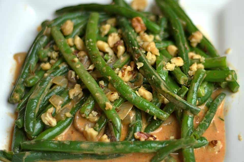 Paleo Spicy Green Bean and Mushroom Skillet 2