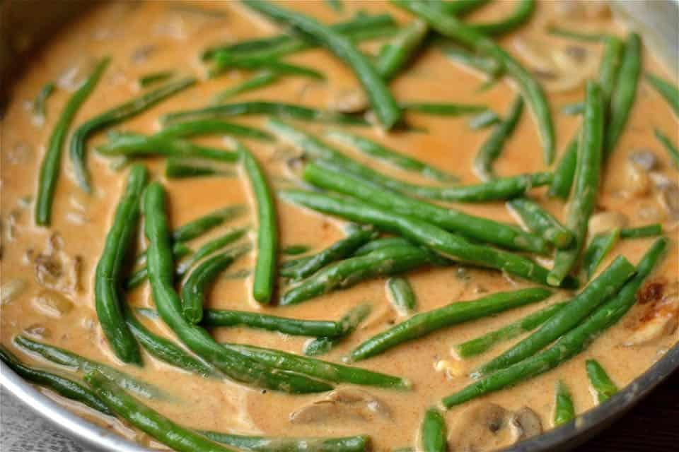 Paleo Spicy Green Bean and Mushroom Skillet 3