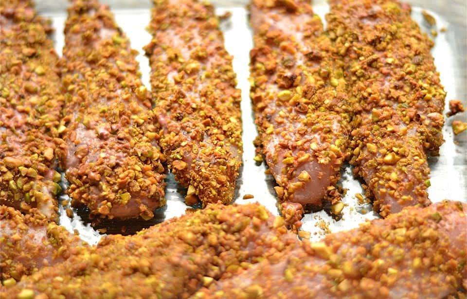 Pistachio Crusted Chicken with Raspberry Mustard Sauce 3