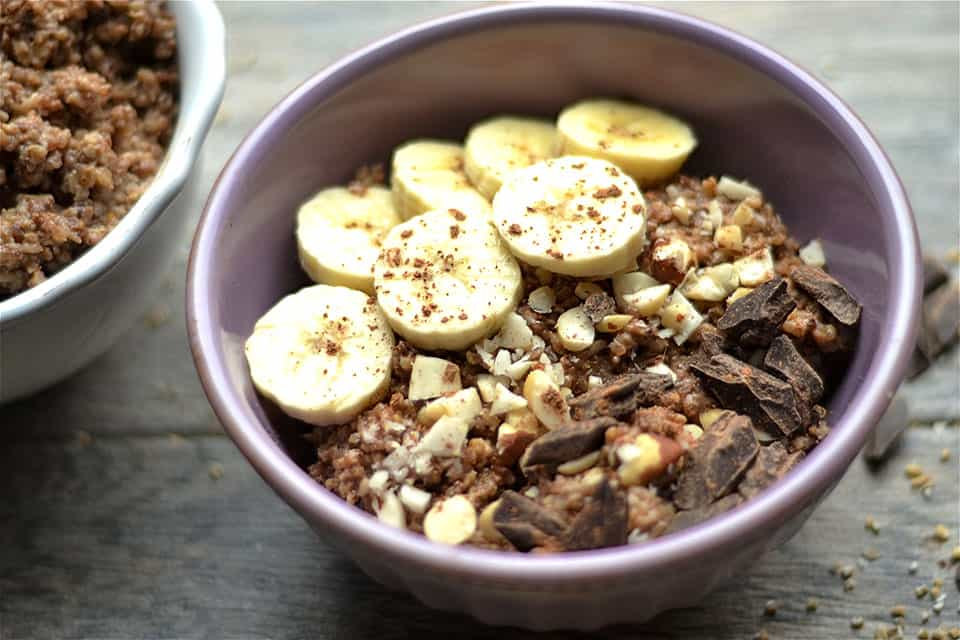 Slow Cooker Chunky Monkey Oatmeal and Quinoa 4