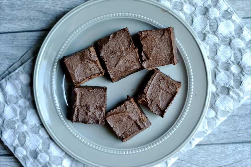 No Bake Mocha Chocolate Mousse Brownies 4
