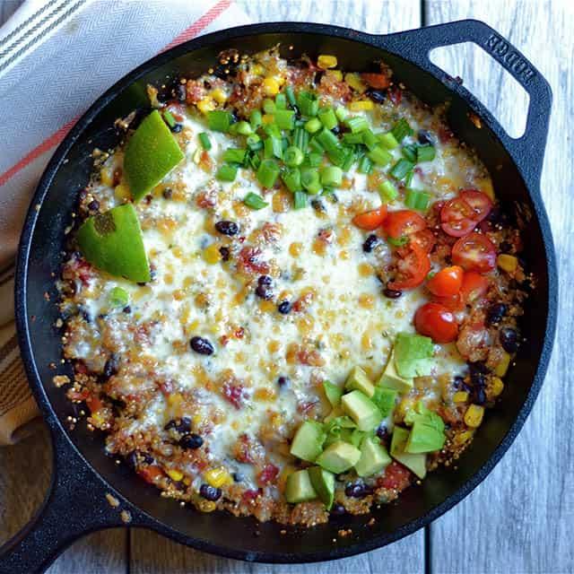 Cheesy Black Bean and Corn Quinoa Taco Skillet 3