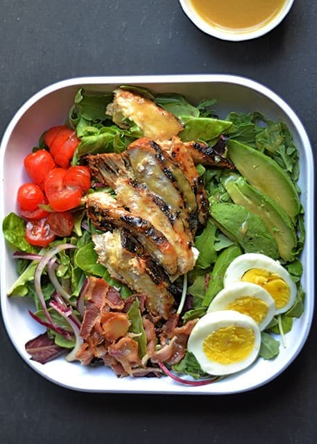 Grilled Honey Mustard Chicken Cobb Salad 2