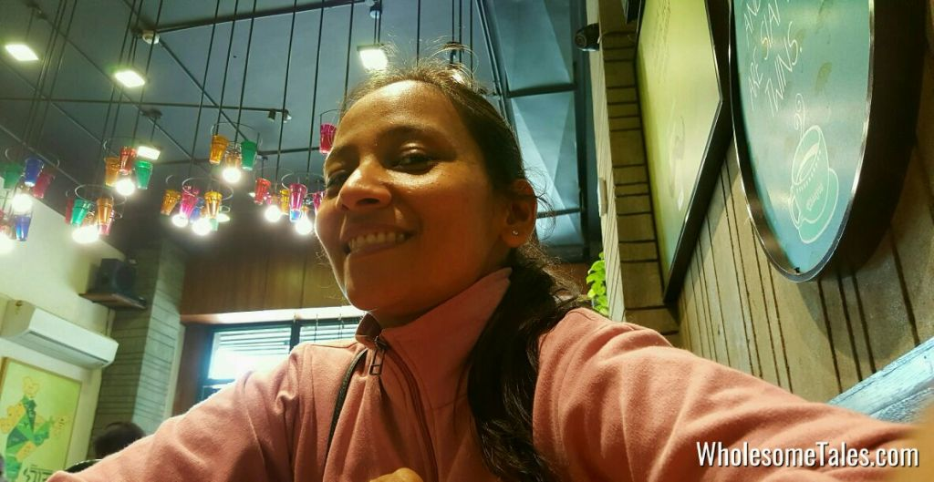 Selfie at Chaayos DLF 4 Gurgaon