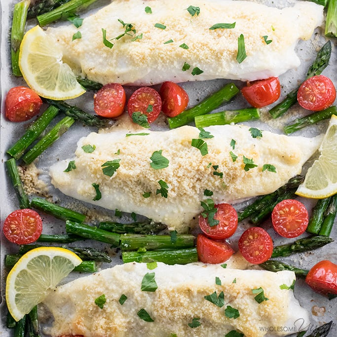 Easy Baked Parmesan Crusted Tilapia Recipe with Mayo - Keto fish meals
