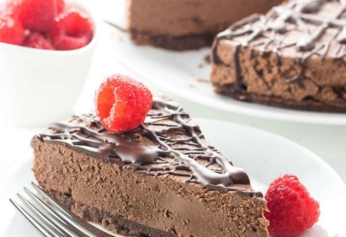 Keto Low Carb No Bake Chocolate Cheesecake Recipe Video