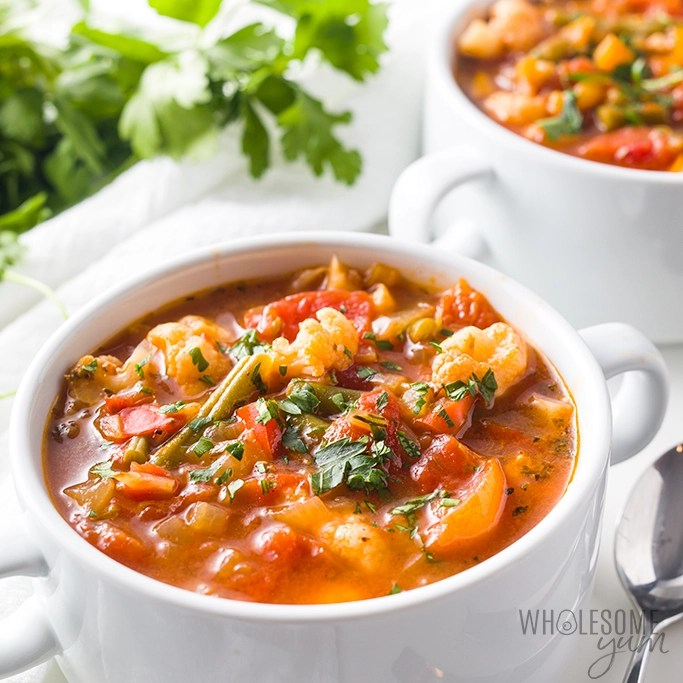 Low Carb Low Calorie Keto Vegetable Soup