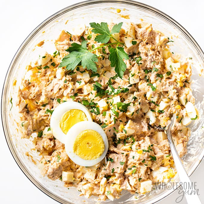 Keto Tuna Egg Salad