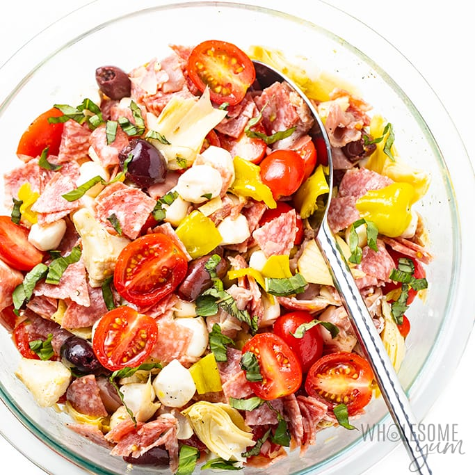 Keto Antipasto Chopped Salad