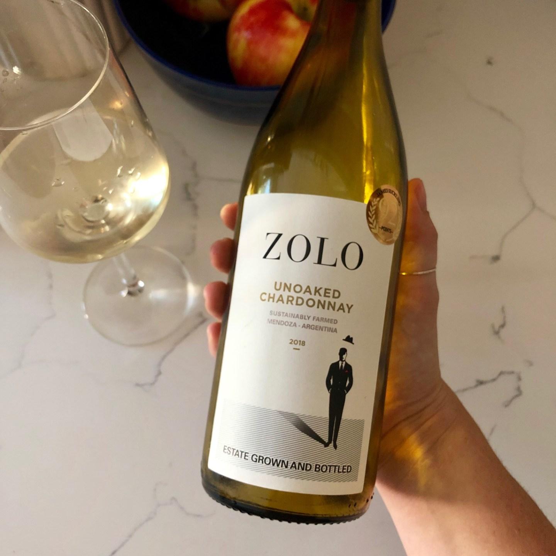 zolo unoaked chardonnay from mendoza