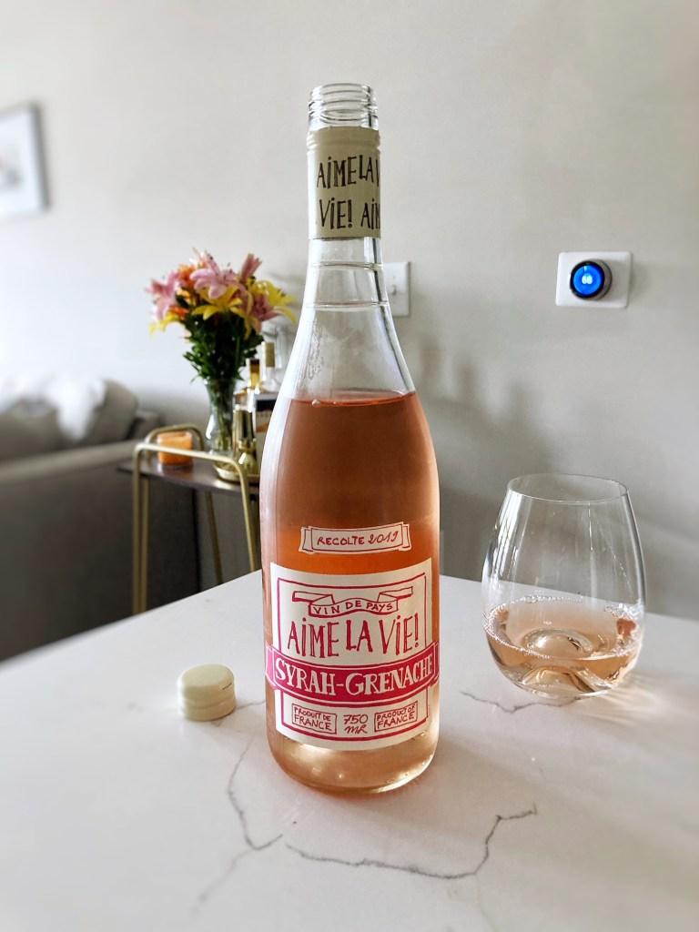 Trader Joe's Aime La Vie Vin De Pays Rose Wine from Languedoc