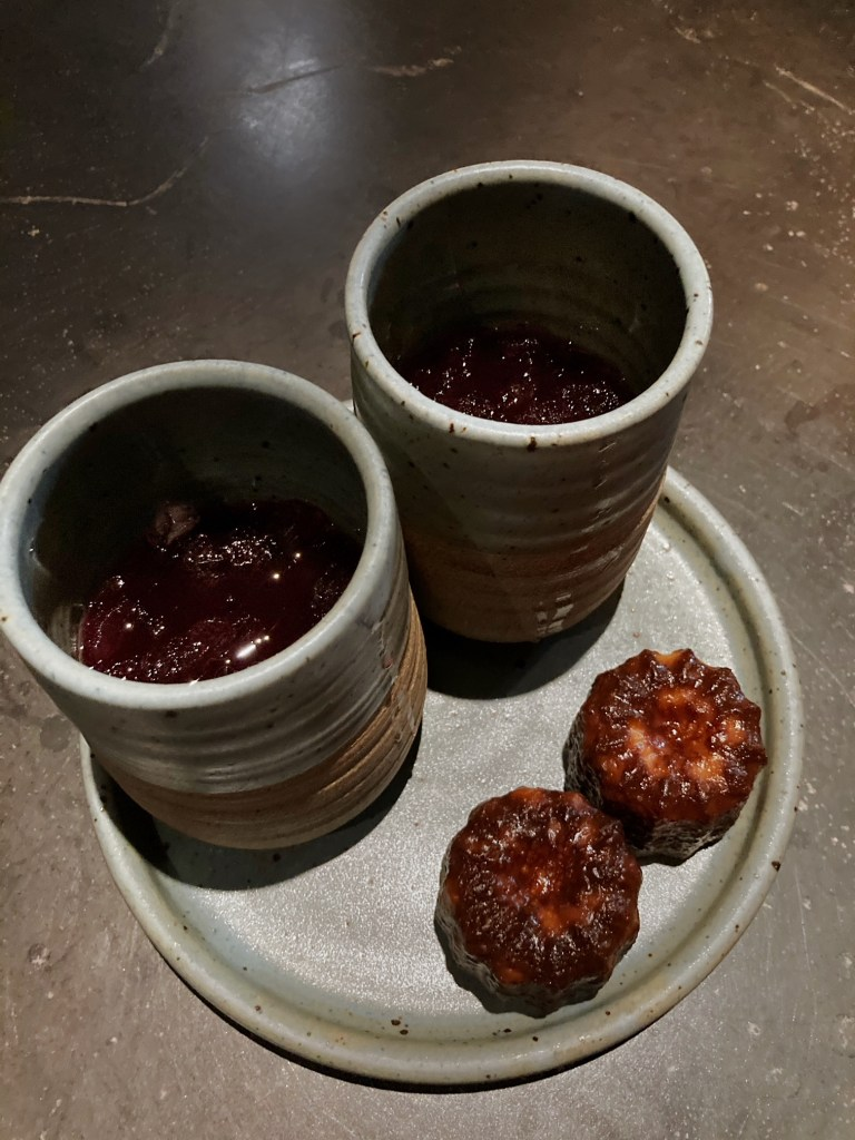 herb mint tea and canneles from nonesuch