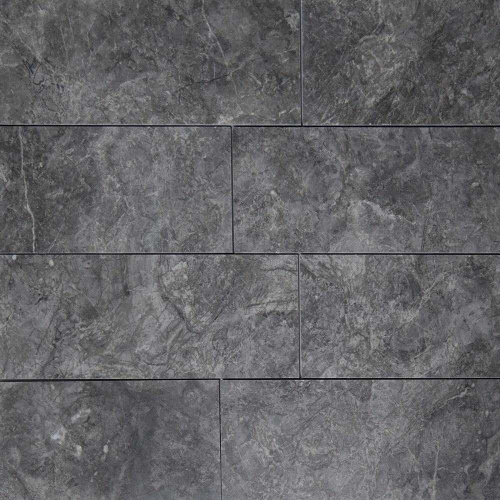 4 x 12 tile dark grey marble polished