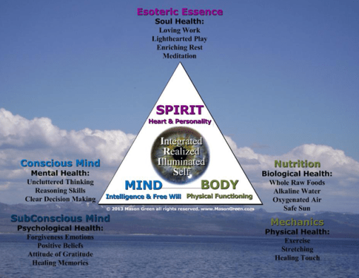 Pyramid of Health Diagram