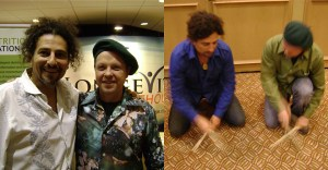 Dueling Drummers Chef Mason and David Wolfe