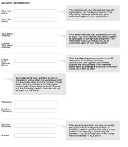 TechSoup Registration Form