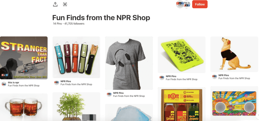 NPR Merchandise on Pinterest