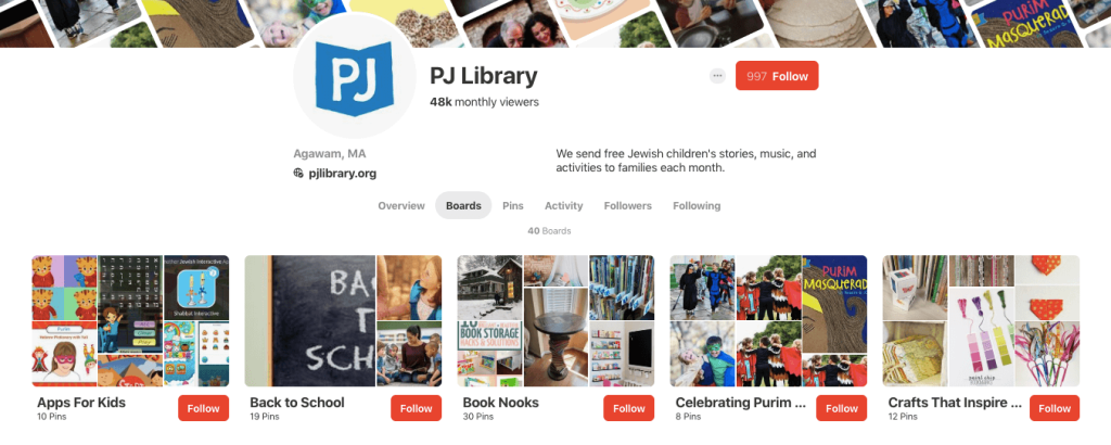 PJ Library's boards on Pinterest