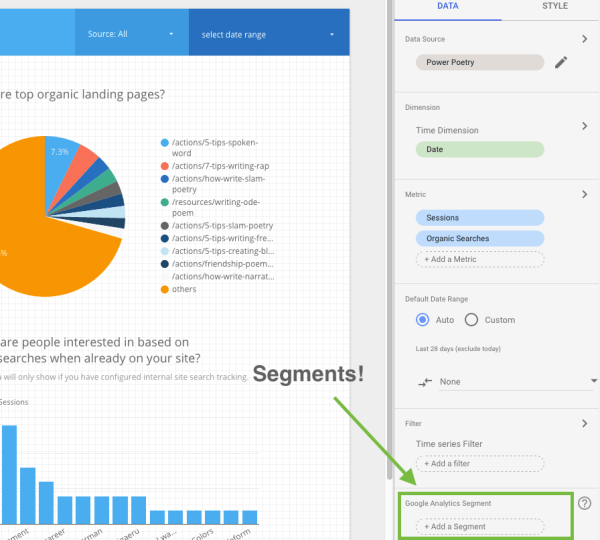 How to use Google Data Studio Segmenting