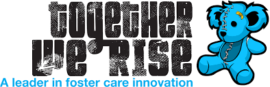 Together We Rise logo blue leader in foster care innovation