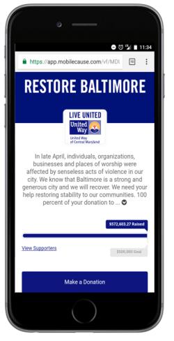 United Way Restore Baltimore