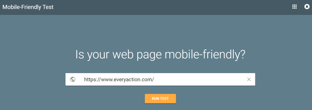Google Mobile Friendly test SEO Competitor Step 1