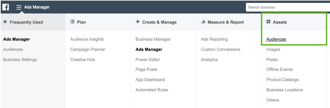 facebook retargeting ads manager