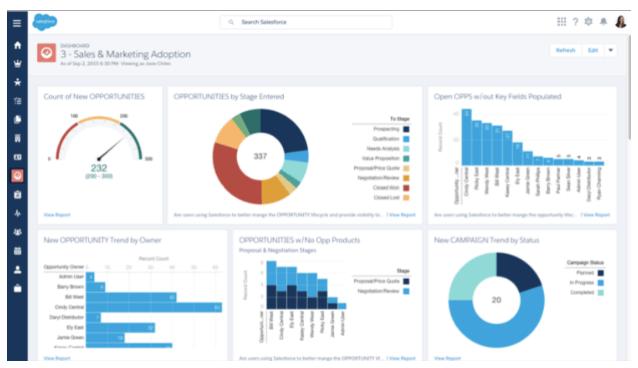Salesforce dashboard visualization
