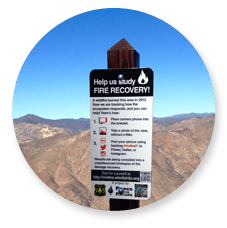 Image of Rim Fire Recovery sign