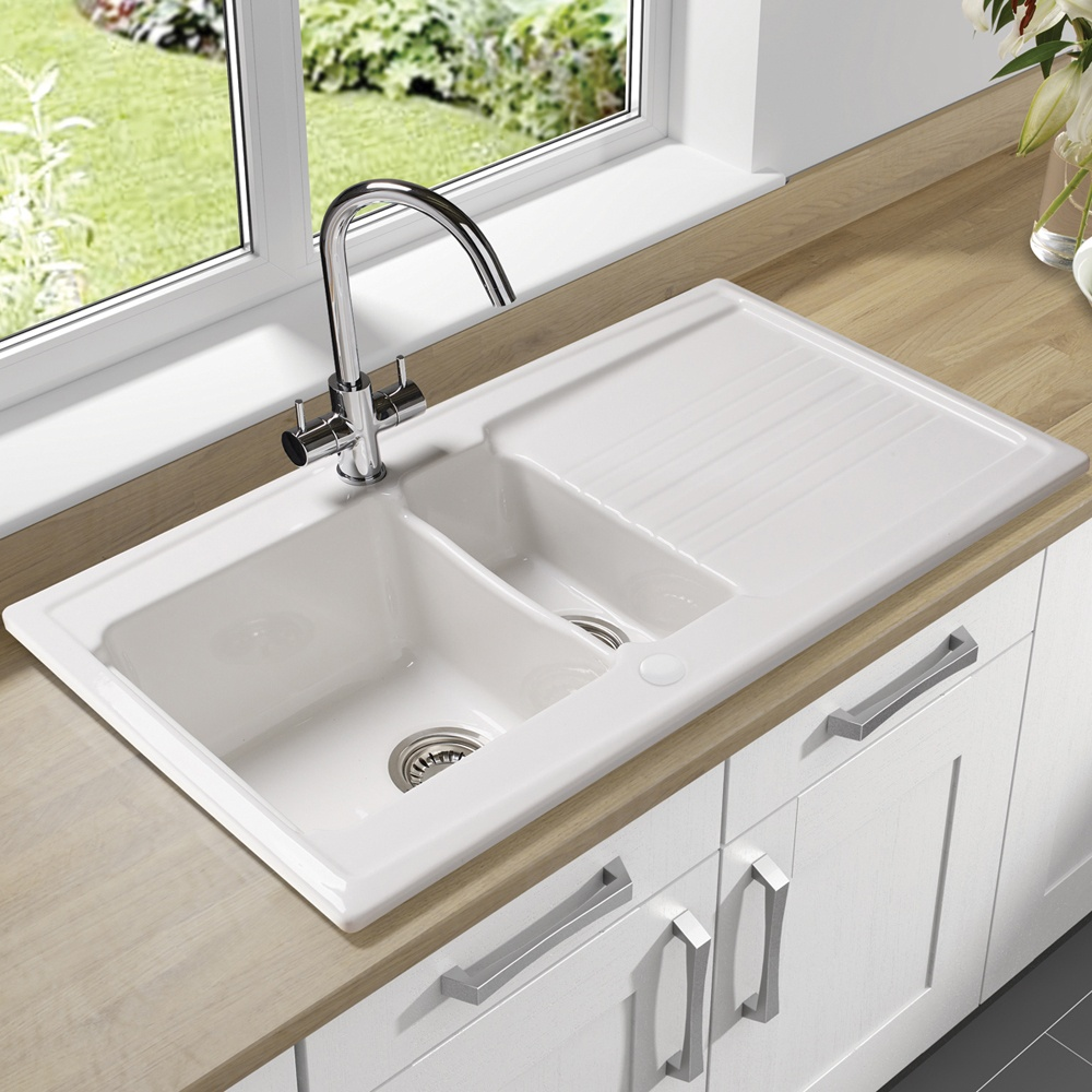 Ceramic Kitchen Sinks Ikea With Evier Timbre Ikea