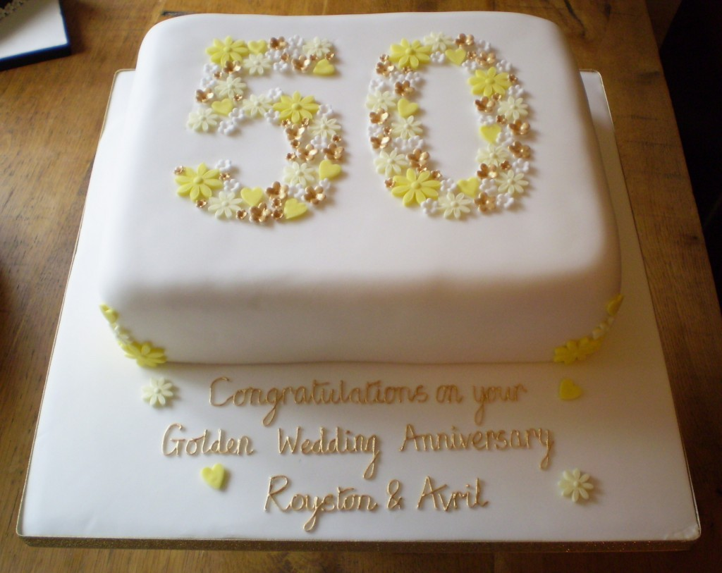 50th Anniversary Cakes Wedding