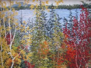 Maine Fall Tree Pastel